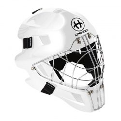 Målvaktshjälm Unihoc Goalie Mask Optima 66 All White