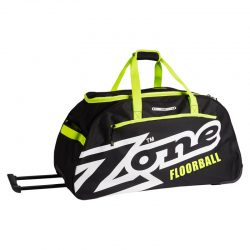 Sportväska Zone Sport Bag Eyecatcher Large With Wheels Black/White/Lime