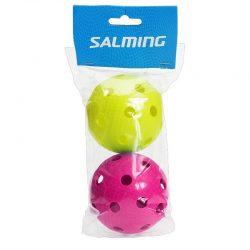Innebandybollar Salming Floorball 2-pack Magenta/Gecko Green