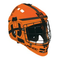 Målvaktshjälm Unihoc Goalie Mask Shield Neon Orange (bild)