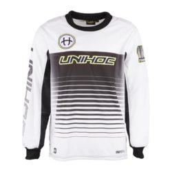 Målvaktströja Unihoc Goalie Sweater Inferno Black/White (bild)