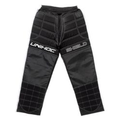 Målvaktsbyxor Unihoc Goalie Pants Shield Black/White JR (bild)