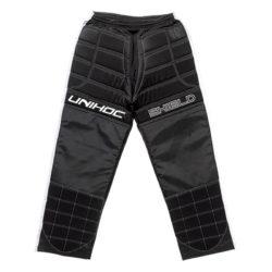 Målvaktsbyxor Unihoc Goalie Pants Shield Black/White JR (bild)