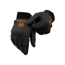 Målvaktshandskar Unihoc Goalie Gloves Packer Black SR/JR (bild)