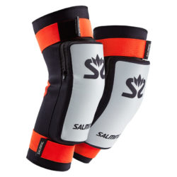 Salming Goalie Kneepads E-Series White/Orange/Black (bild)