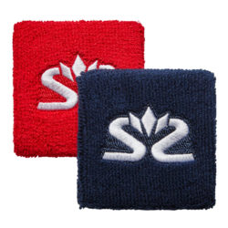 Salming Wristband Short 2-pack Risk Red/Dress Blue (bild)