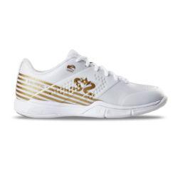 Innebandyskor Salming Viper 5 Women/Junior Shoe White/Gold (bild)