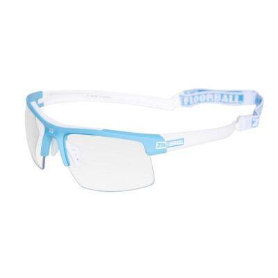 Innebandyglasögon Zone Eyewear Protector Sport Glasses JR Blue/White (bild)