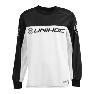 Målvaktströja Unihoc Goalie Sweater Keeper Black/White (bild)